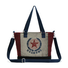 Retro Look Cotton + Knit Quality Lady Women Handbag Girls Totes  Shoulder Bag