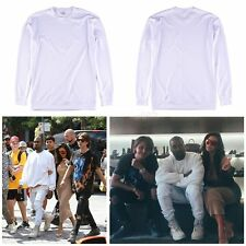 Men Lady Kanye West Casual White Sweater Hip Hop Oversize Streetwear Coat Shirts