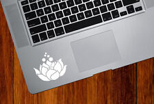 """TP - Lotus Flower w Bubbles -D2- Trackpad Vinyl Decal YYDCo(2.5""""w x 2""""h)(COLORS)"""