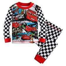 NWT Disney Store Cars Race to Bed Lightning McQueen PJ Pals Sleep Set Pajama NEW