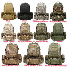 Military Molle Assault Tactical Backpack Large Rucksack Backpack Bag Detachable