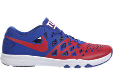 NEW MENS NIKE TRAIN SPEED 4 CROSS TRAINING SHOES TRAINERS GYM RED / RUSH BLUE