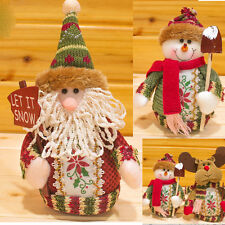 New Lovely Christmas Doll Decoration Santa Claus Snowman Hanging Tree Ornament
