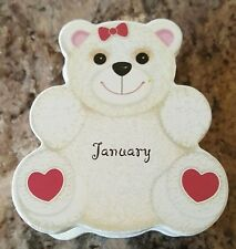 JANUARY Teddy Bear Birthstone Pendant Necklace New in Box Great Gift FREE SHIP