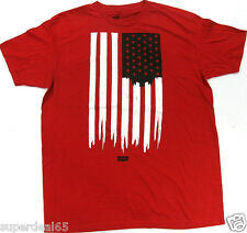 Levi's T Shirt Levis Strauss & Co Painted USA Flag Red  100% Cotton Levis