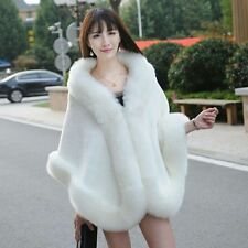 White/ivory Fur Wedding Bridal Prom Bolero Cape Stole Shawl Shrug Wedding Wraps