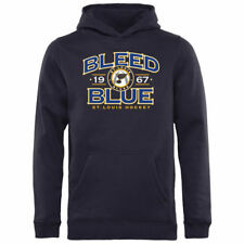 St. Louis Blues Youth Blue Hometown Collection Bleed Blue Logo Pullover Hoodie