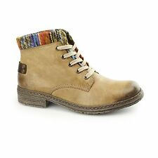 Rieker 74214-24 Ladies Womens Warm Lined Laced Comfort Winter Ankle Boots Brown