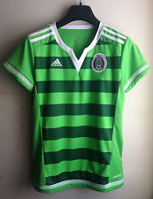 NEW $90 Adidas Women 2015/2016 Mexico HOME Soccer Jersey Size MED LARGE