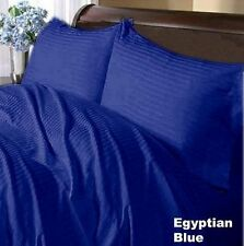 1000TC 100% Soft Egyptian Cotton Duvet Set/Sheet Set/Fitted Egyptian Blue Stripe