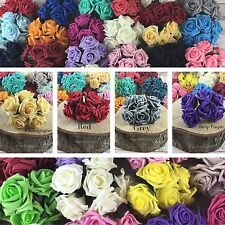 4 Bunches 24 Heads Colourfast Flowers Foam Bouquet Wedding Artificial 5.5cm