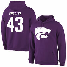 Darren Sproles Kansas State Wildcats Purple Name & Number Pullover Hoodie