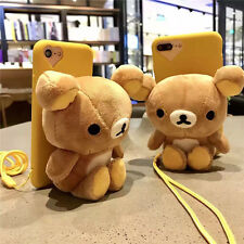 Cartoon 3D cute Toy Bear Rilakkuma strap soft case cover for iphone 7 6S plus