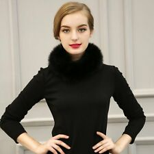 Women Elegant Faux Fox Fur Collar Scarf Shawl Stole Soft Furry Neck Wrap Circles