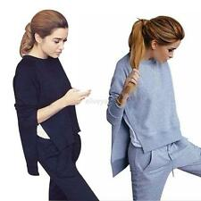 Womens Casual Sports Tops Sweatshirt+ Pants Track Sweat Suits 2Pcs Tracksuit Set