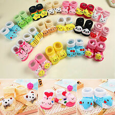 Newborn Baby Anti Slip Cotton Socks Boots Shoes Cute Cartoon 0-12 Months Best