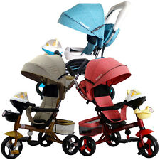 With Music Fantastic Kids Ride Pushchair Trike Bike Stroller FS945 Tricycle Pram
