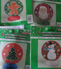 christms honeycomb decorations table centrepeice santa tree snowman gingerbread