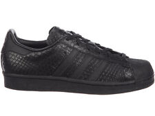 NEW WOMENS ADIDAS ORIGINALS SUPERSTAR CASUAL SHOES TRAINERS BLACK / BLACK / WHIT