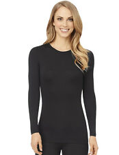 Cuddl Duds Softwear Black Modal Long Sleeve Crew Top CD8417516-001