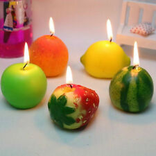 Watermelon Simulation Fruit Candle Spple Strawberry Lemon Peach Birthday Candles
