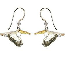 Bamboo Jewelry White Pelican Cloisonne Wire Earrings | Bamboo Jewelry bj0064e