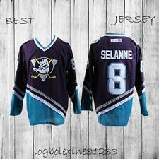 Anaheim Ducks Teemu Selanne 8# Hockey Jersey Men Purple Jersey Ducks