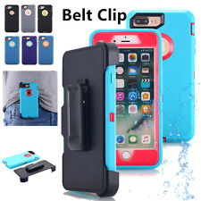 For Apple iPhone 8 6s X 7 Plus Shockproof Hard Heavy Duty Case (Belt Clip fits)