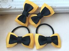 2pcs Emma Wiggle Hair Bow Clip Tie Ribbon Baby Toddler Girls Wiggles Small Bows