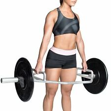 """Olympic Barbell Weight Lift Squat Fitness Home Gym Workout CAP 2"""" Combo Hex Bar"""