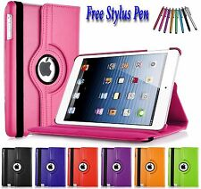 PU Leather 360 Rotating Smart Folding Stand Case Cover For Apple iPad 2 3 4 UK