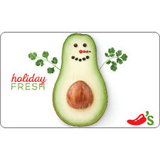 Chili's Holiday Avocado Gift Card - $25 $50 or $100 - Email delivery