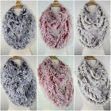 Luxurious Fuzzy Faux Fur Furry Infinity Loop Circle Scarf Winter Neck Warmer