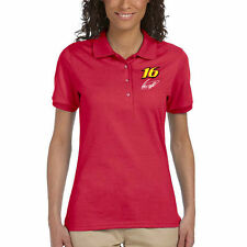 Checkered Flag Sports Greg Biffle Women's Racer Polo - Red