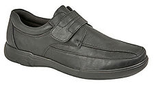 Mens New Black Touch Fastening Comfortable Leisure Shoes 6 7 8 9 10 11 12