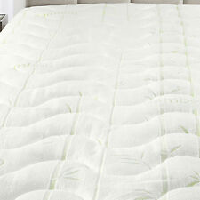 Full Size Waterproof Bamboo Jacquard Mattress Pad-Super Soft & Cool To The Touch