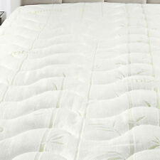 Full Size Plush Bamboo Jacquard Mattress Pad Super Soft & Cool To The Touch