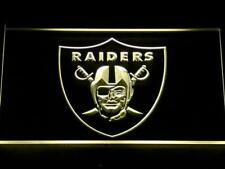 Oakland Raiders LED Neon Sign On/Off Football Home Bar Beer Room decor sign