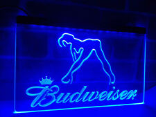 Budweiser Beer LED Neon Sign On/Off Pub Bar Room hanging sign mens gift