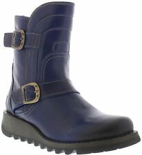 Fly london Sven731FLY Blue Leather Womens Short Boots