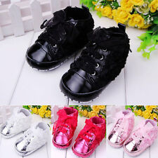 New Rose Silk Ribbon Girls Sports Shoe Baby's Cotton Lace up sneaker Shoes