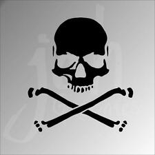 Skull Crossbone Vinyl Decal Sticker Jolly Roger Pirate Warning Beware Boat