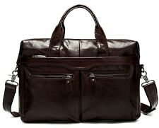 Men's Vintage Genuine Leather Messenger Bag Shoulder Laptop Bag Briefcase New