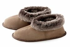 Mens Genuine Sheepskin Slippers , 100% Leather ! Home Shoes , Boots , Warm