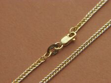 Real 14K Yellow Gold 1.65mm Wheat Chain Necklace Lobster clasp Solid 14kt Gold