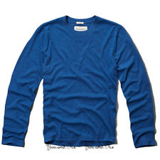 NEW ABERCROMBIE & FITCH for MEN * A&F Meacham Lake L/S Tee T Shirt * Blue M-XXL