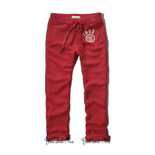 NEW ABERCROMBIE & FITCH PANTS for MEN * A&F Classic Sweatpants * Red