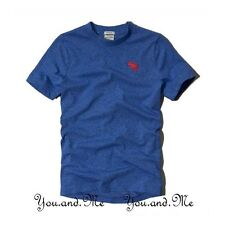 NEW ABERCROMBIE & FITCH KIDS A&F Boys Pop Icon Round Neck Tee T Shirt * Blue L