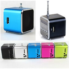 New Mini USB Stereo Speaker Micro SD/TF MP3 Music Player FM Radio 5 Colors