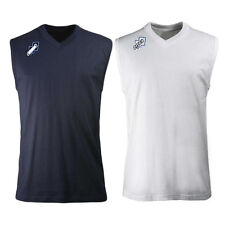 Errea Pro Cotton Training Vest Top Navy White Mens Small, Medium, Large ,XLarge